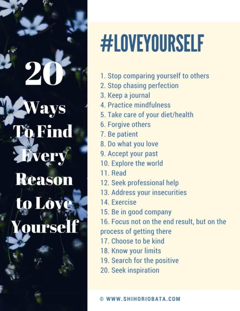 Love Yourself Printable PDF