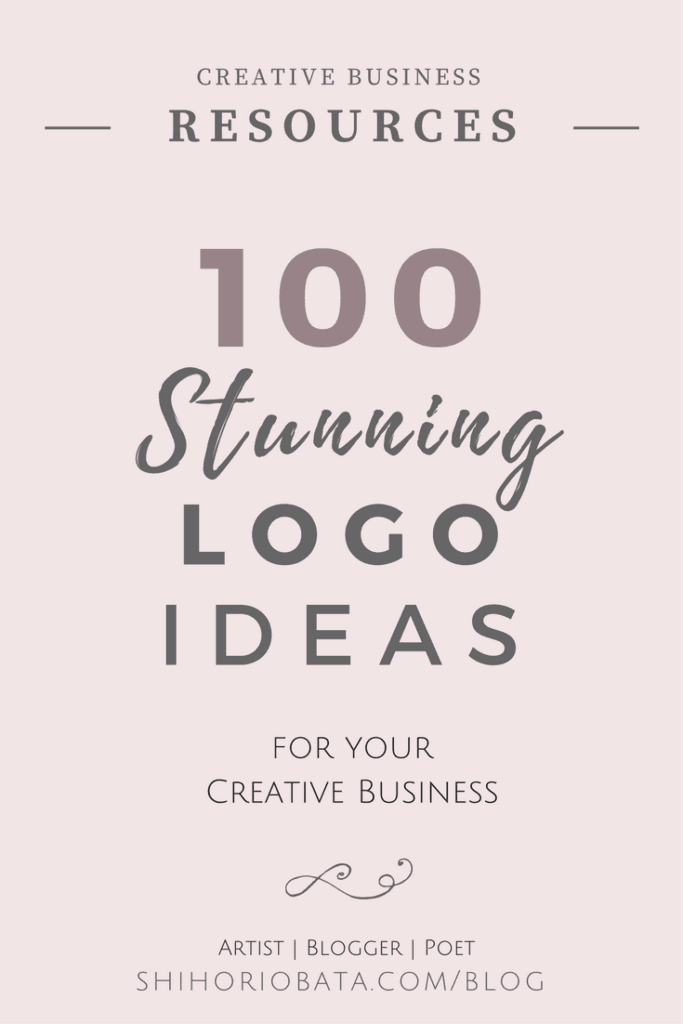 100 Logo Design Ideas for your creative business: Premade logo ideas
