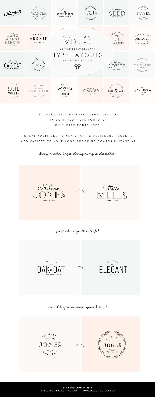 Typography Logo Design Ideas Inspiration - Maggie Molloy