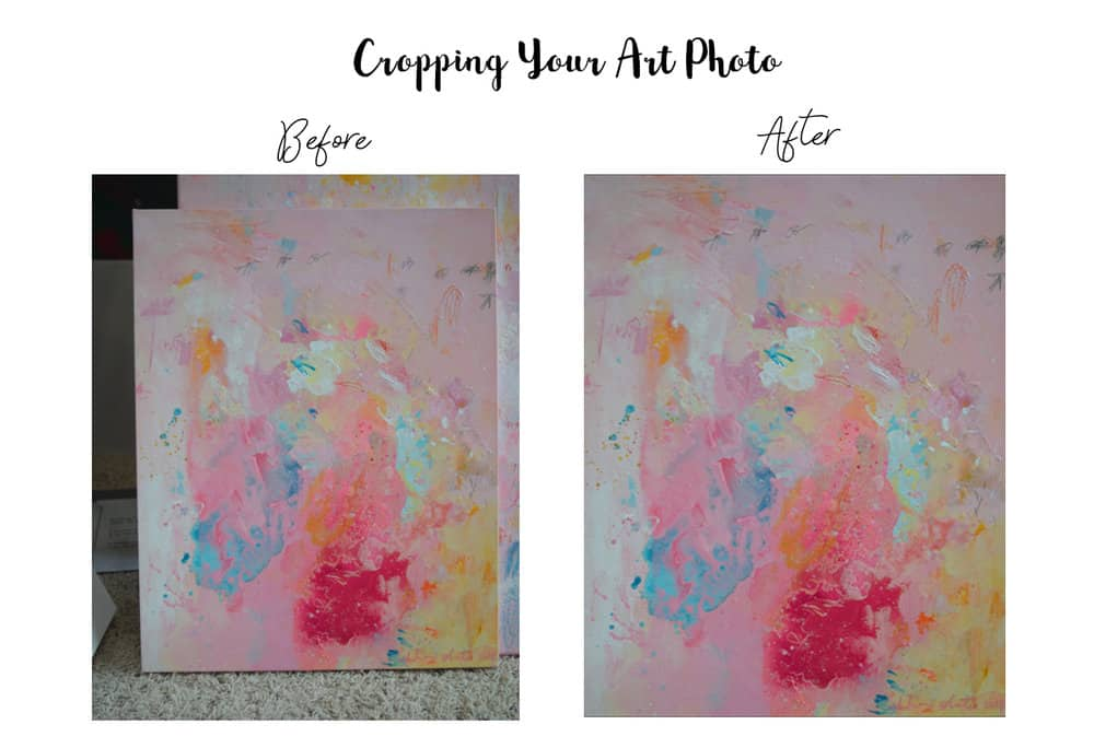 Before and After Cropping Your Art Photo