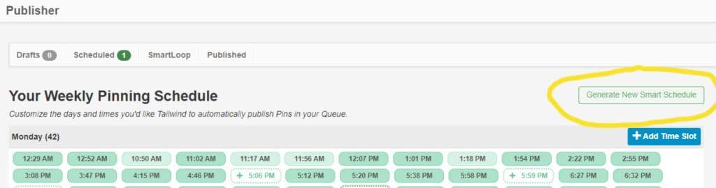 tailwind tutorial - schedule pins