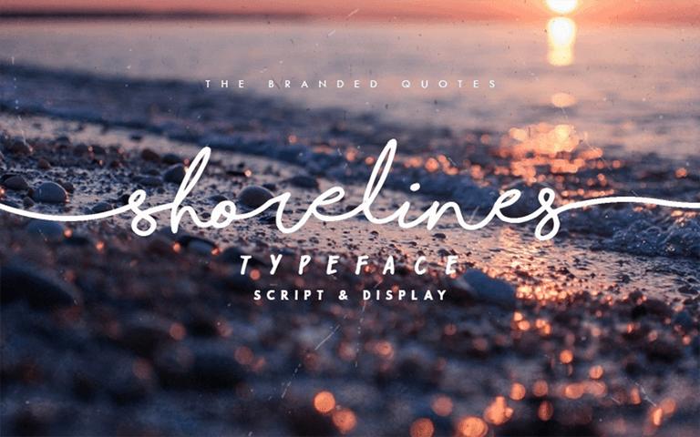 Cursive Handwriting Font - Shorelines