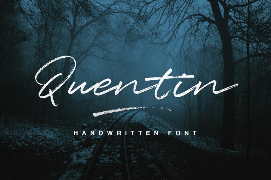Free Handwriting Script Font - Quentin