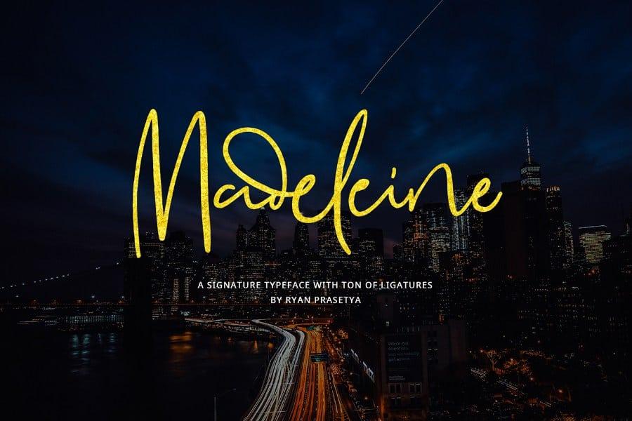 Madeleine Script Font Free
