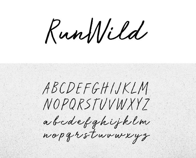 Script Handwriting Font Free - Run Wild