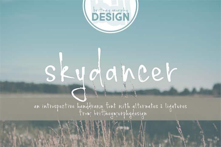 Free Handwritten Font - Skydancer