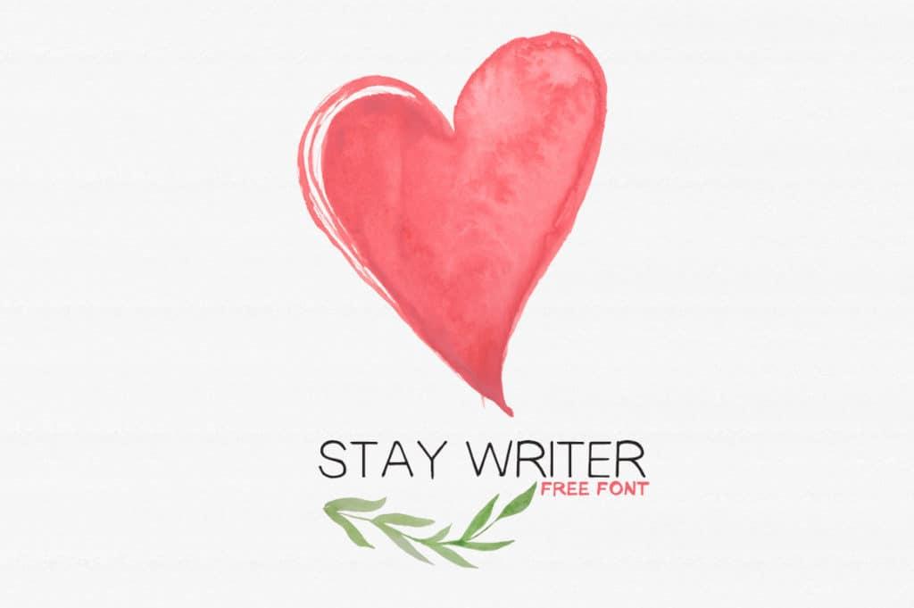 Free Handwritten Font - Staywriter