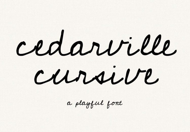 Cedarville Cursive Free Handwriting Font