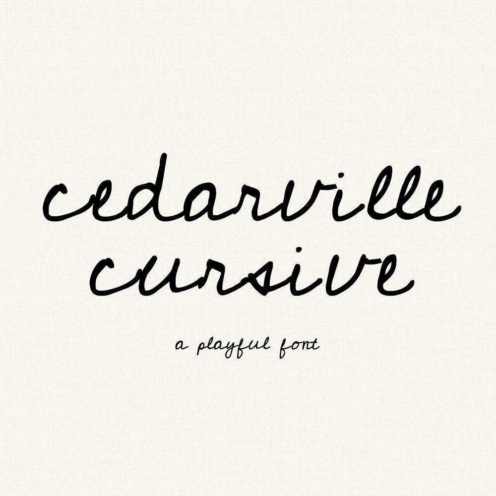 Free Cursive Handwriting Font - Cedarville Cursive