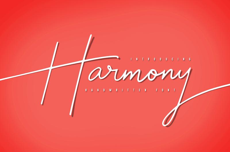 Free Script Handwriting Font - Harmony