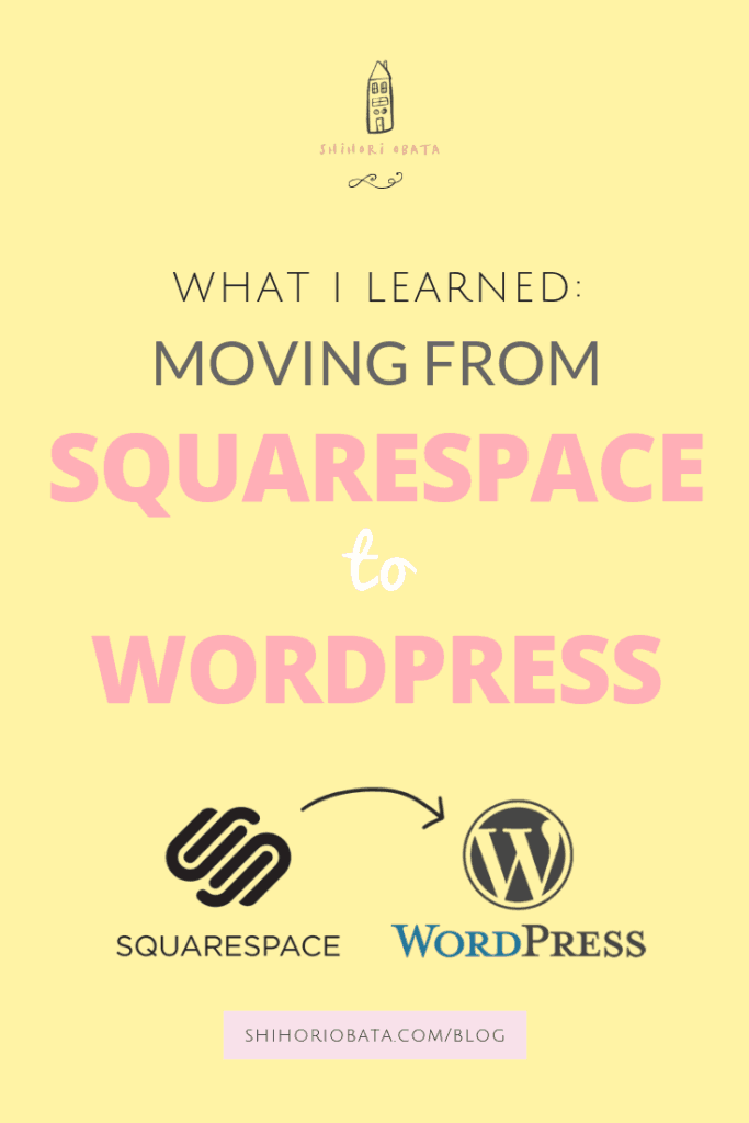 Moving site from Squarespace to WordPress