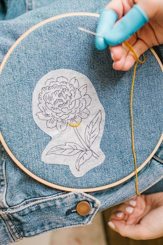 DIY Hand Embroidered Clothing