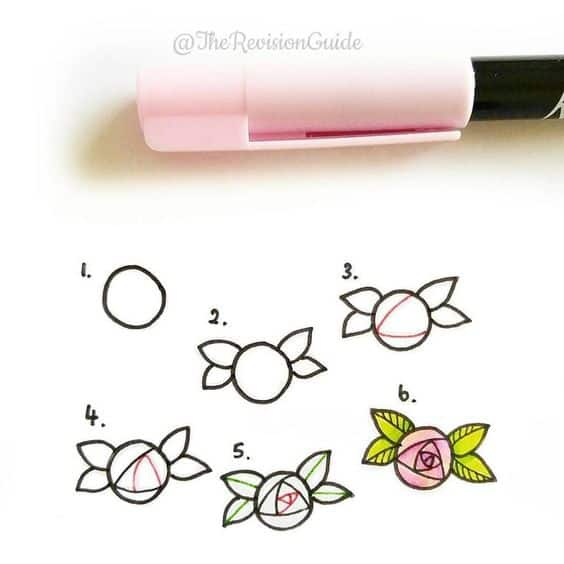 How to Draw a Simple Rose