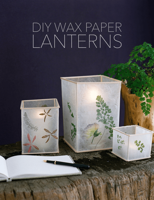 Craft Ideas to make and sell - Wax Paper Lanterns