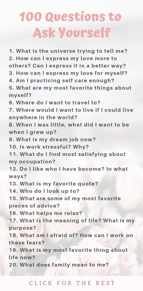 Questions to Ask Yourself List for Self Growth