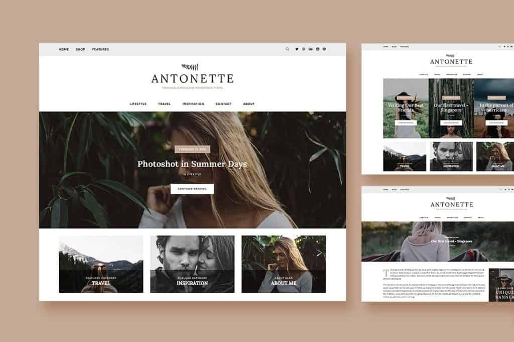 Antonette Feminine WordPress Theme