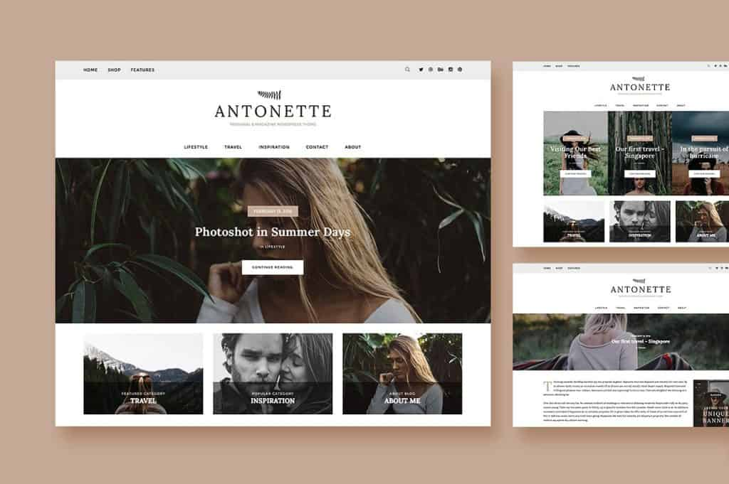 Antonette Feminine WordPress Theme