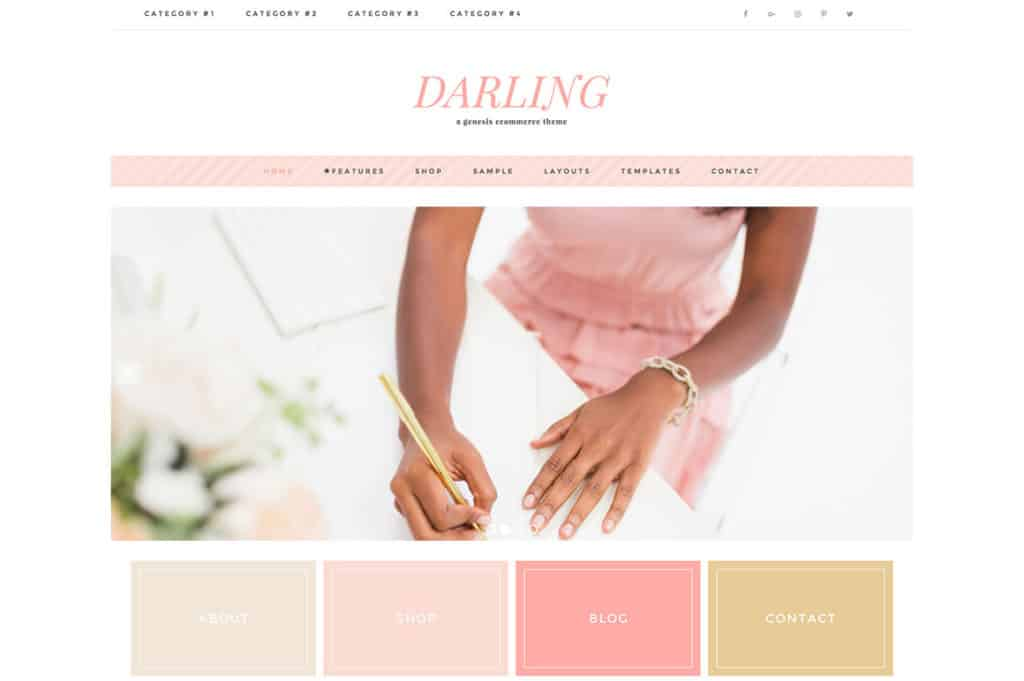 Feminine WordPress Theme - Darling