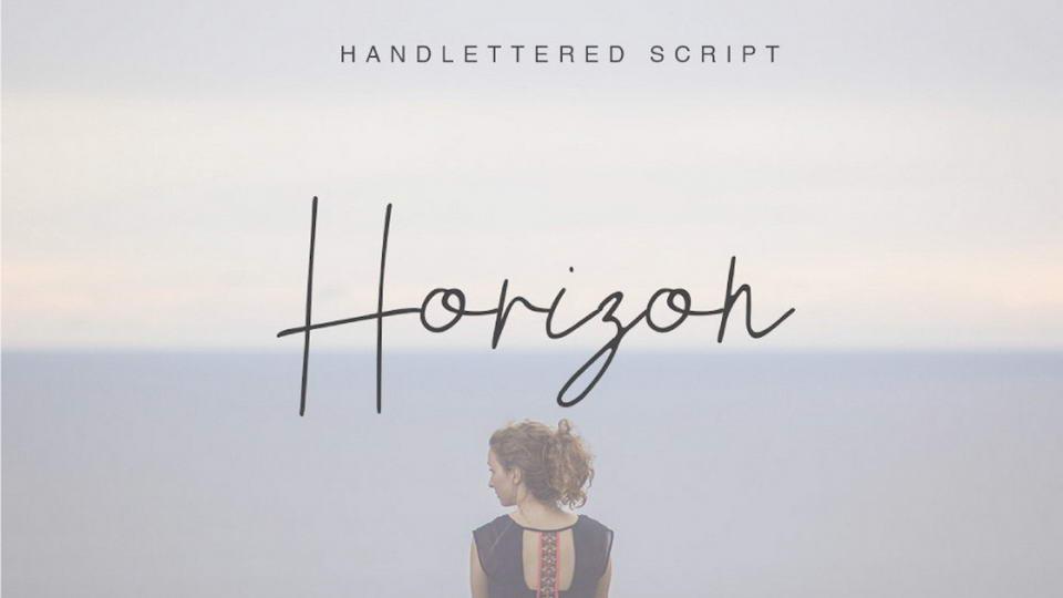 Free Handwriting Font Horizon