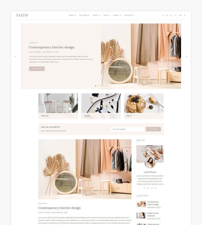 Faith WordPress Theme