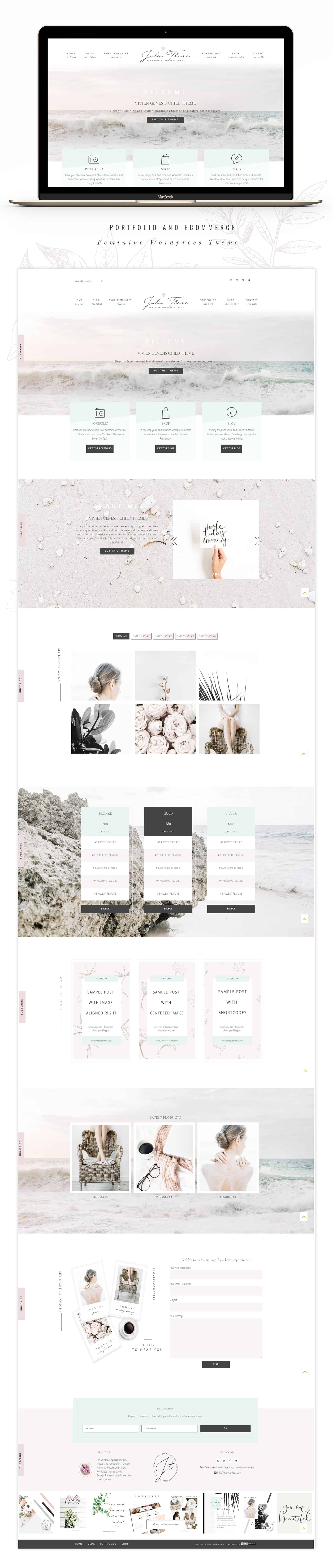 Julia Feminine WordPress Theme