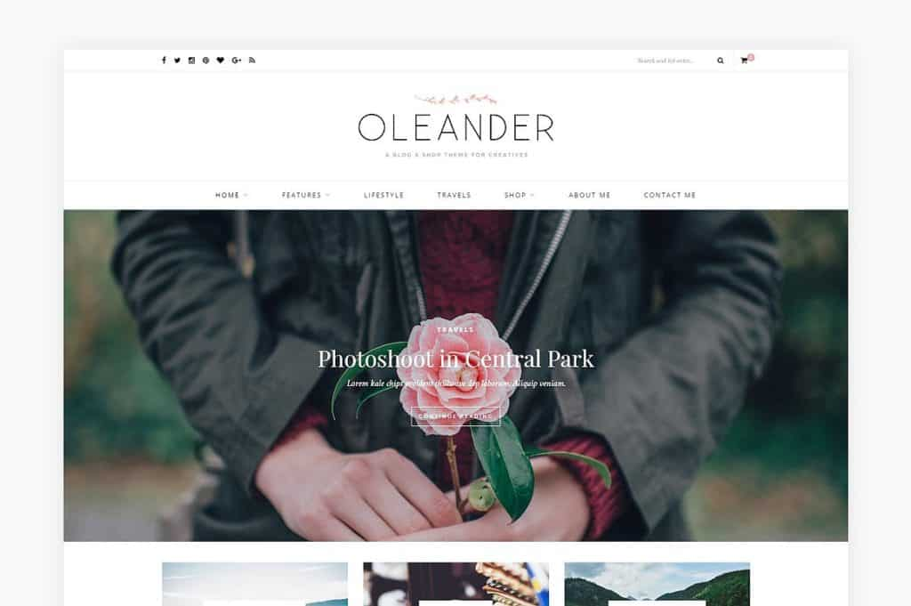 Wordpress Theme - Oleander