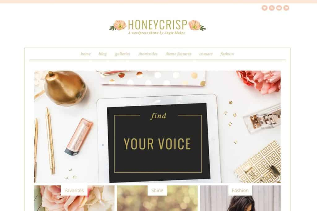 Honeycrisp Cute Feminine WordPress Theme