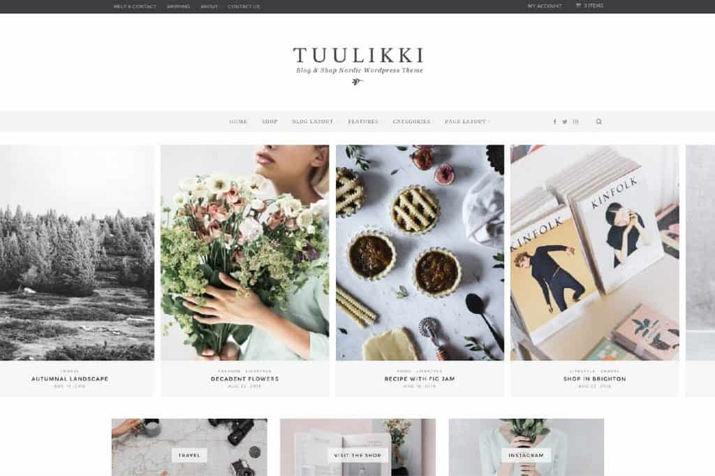 Tuulikki WordPress Theme Nordic