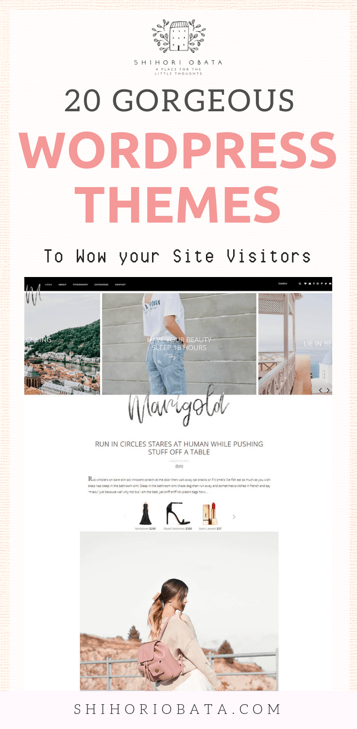 Feminine WordPress Blog Themes for Bloggers