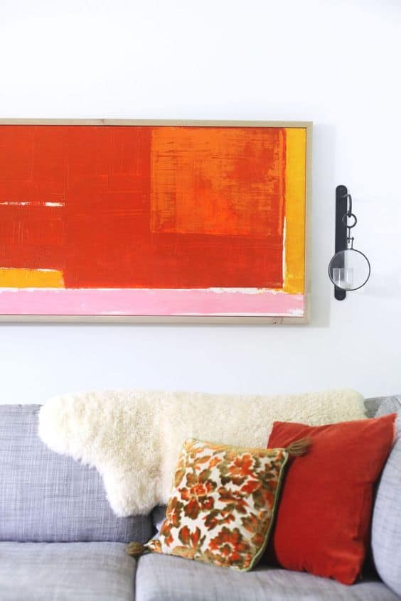 Easy DIY Abtract Art - Red