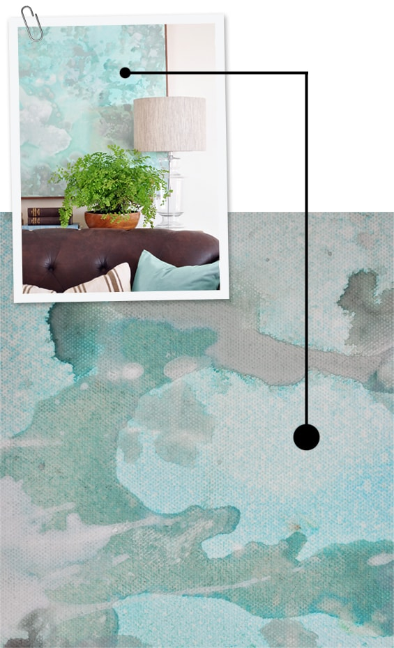 DIY Abstract Painting Tutorial Closeup