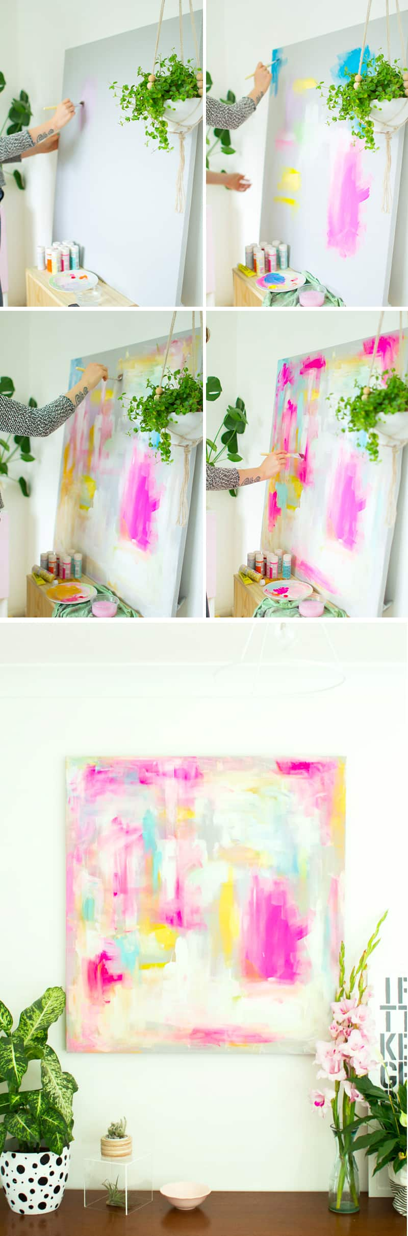 DIY Abstract Art to creative for your home DIY