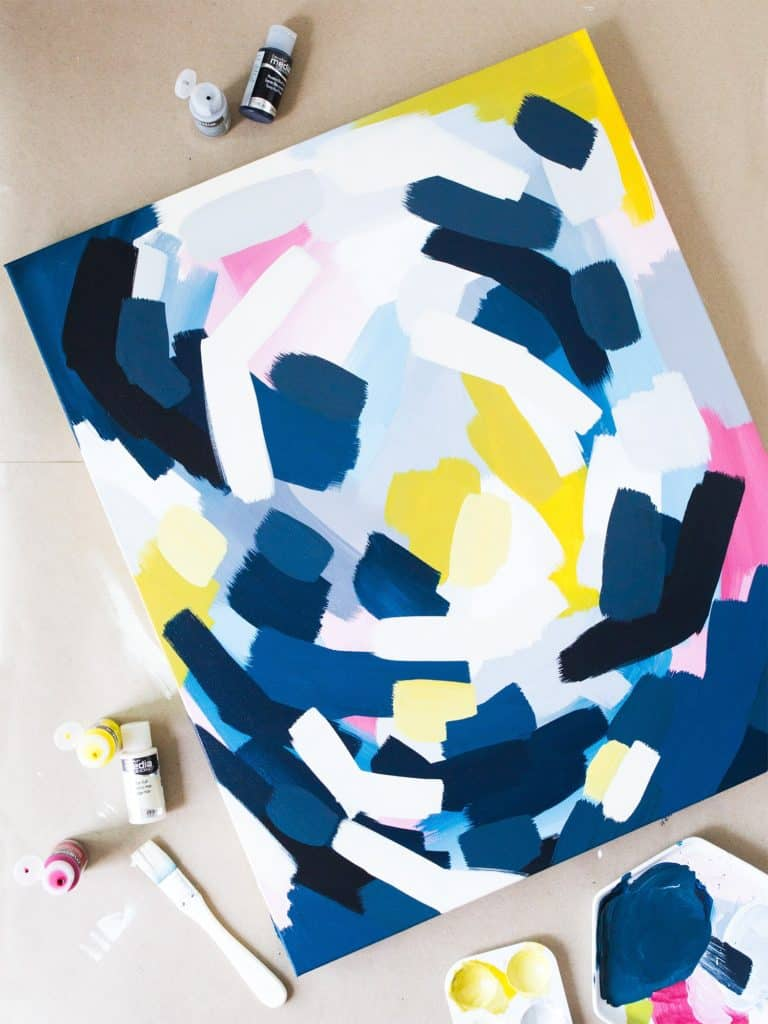 DIY Abstract paintings to try