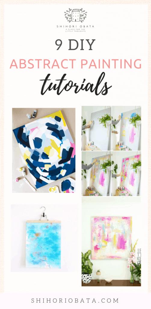 DIY Abstract Painting Tutorials