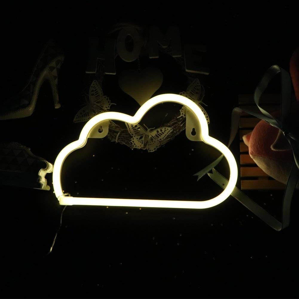 Neon Light Cloud - Home Decor Ideas from Amazon