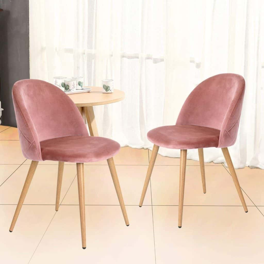 Rose Pink Chairs - Amazon Finds Home Decor