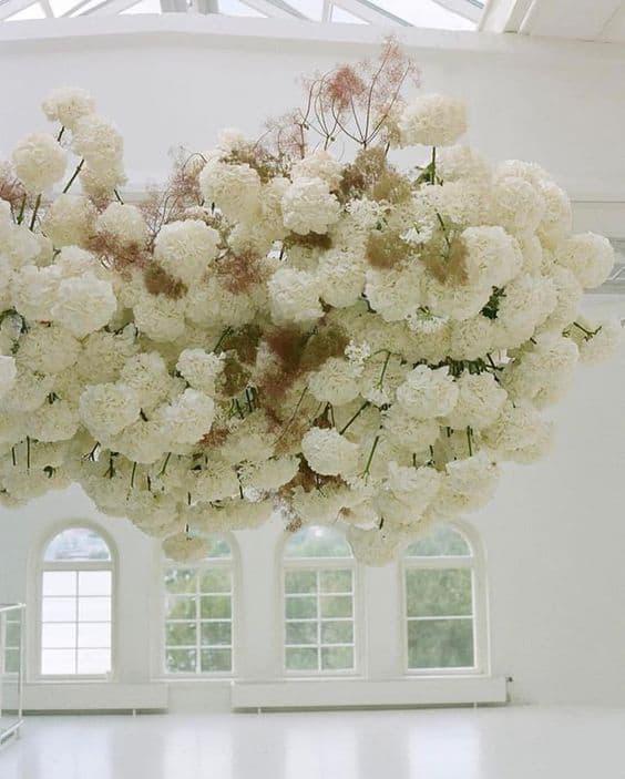 White Floral Arrangement Wedding