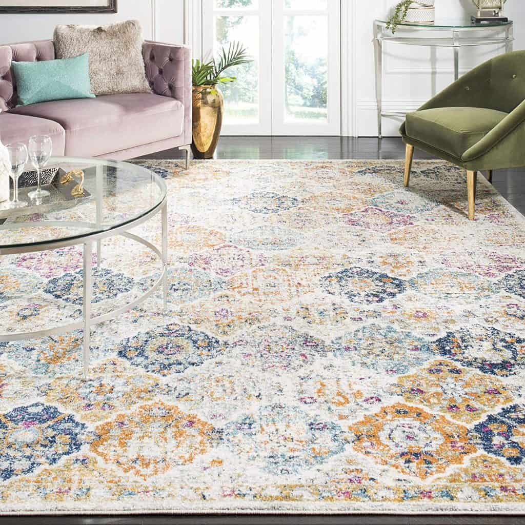 Cream and Multicolored Bohemian Chic Rug - Home Decor Ideas