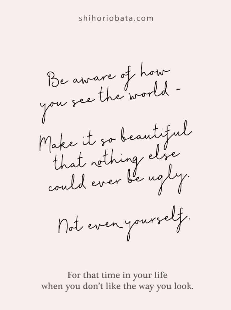 Be Aware of How You See the World - Quote about Self Image