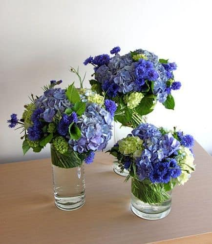 Blue Flower Arrangement Idea