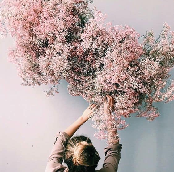 Pink Wall Floral Arrangement