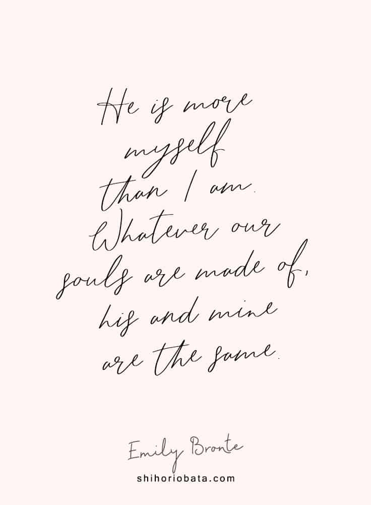 He is more myself than I am