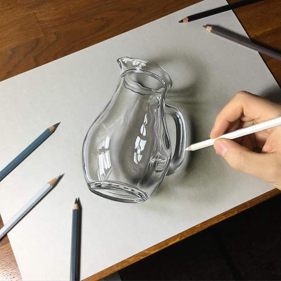 3d glass drawing - Marcello Barenghi