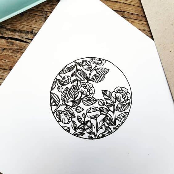 Flower Circle Bullet Journal Doodle
