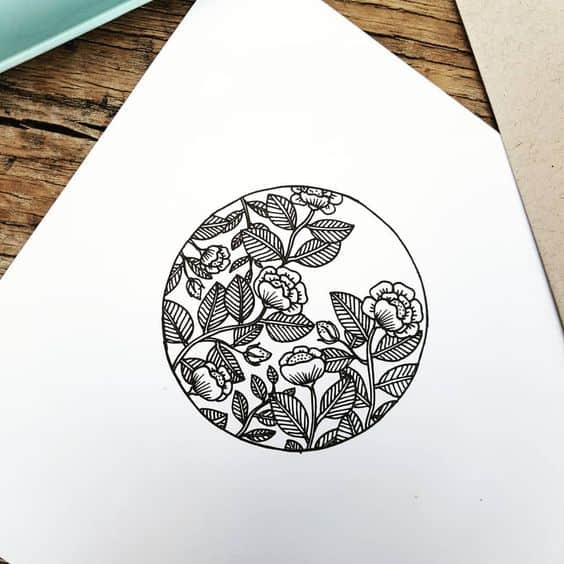 Flower Circle Bullet Journal Doodle