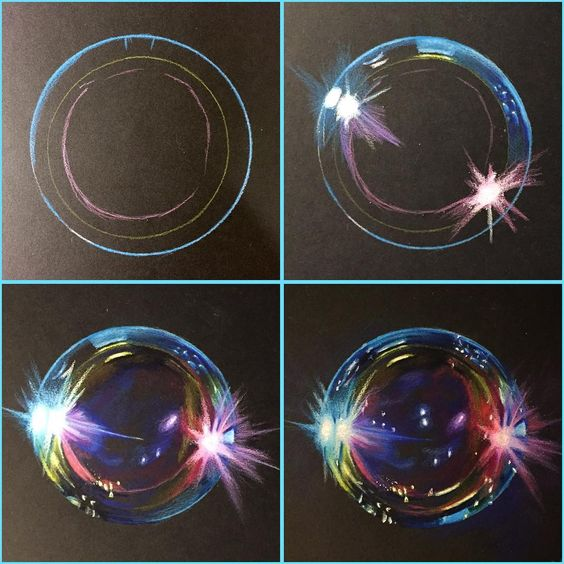 3D Bubble - Amazing Drawing - Things to Draw #drawing #doodle