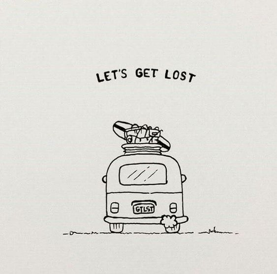 Let's Get Lost Doodle - Things to Draw