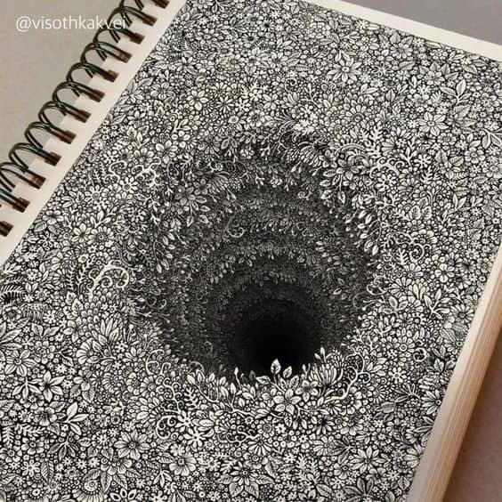 3D Hole Drawing - Things to Draw