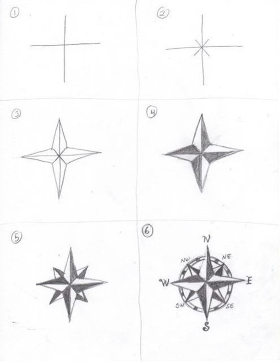 Compass Drawing How to
