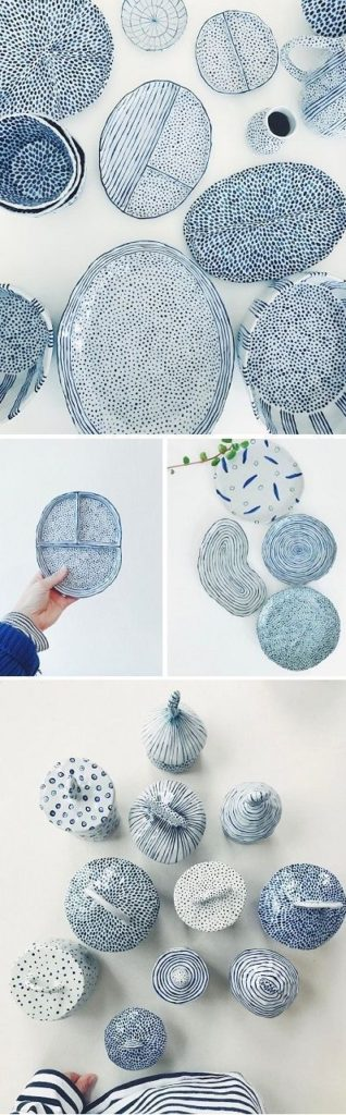 Blue Ceramic Pottery Ideas